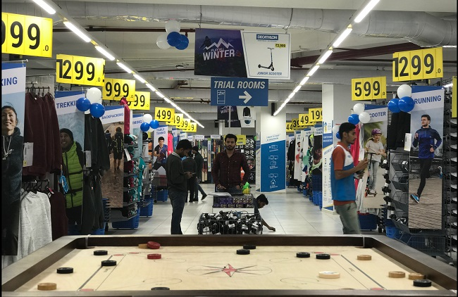 The Decathlon Store at the Omaxe Plaza in Ludhiana